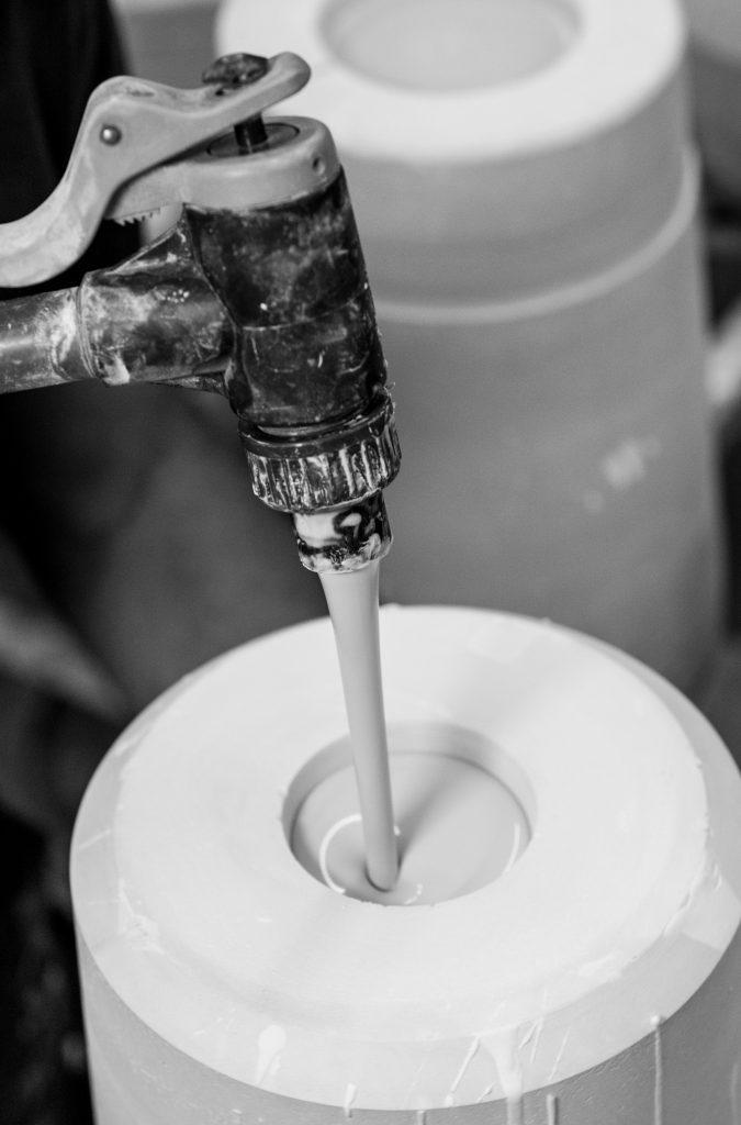Porzellanmasse Porzellanschlicker Gießform