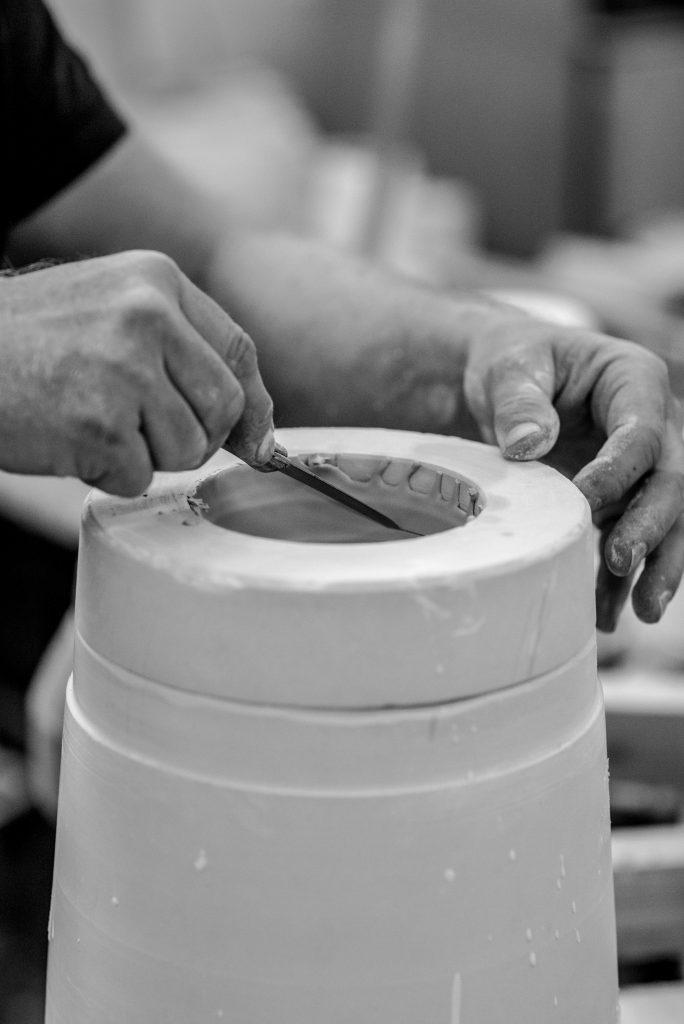 Giessring Porzellan Schlicker Vase Gießen
